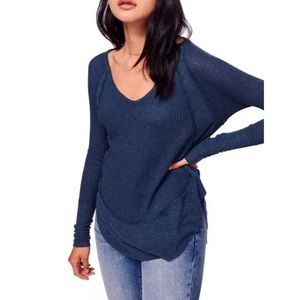 Free People Catalina Dark Blue Thermal